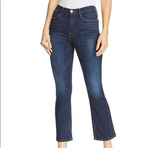 FRAME Jeans Le High Straight Leg Snap Hem Flaw